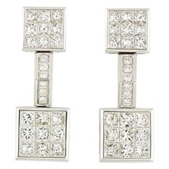 Mouawad Diamond Drop Earrings 4.20 Carat