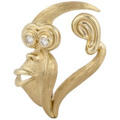 Henry Dunay Monkey Face Brooch
