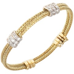 Vintage Diamond Gold Bracelet