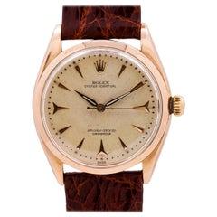 Rolex 18 Karat Pink Gold Oyster Perpetual Chronometer, circa 1956