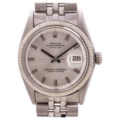 Rolex Datejust Stainless Steel and White Gold Ref 1601 circa 1968