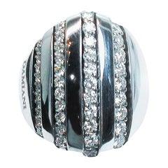 Damiani 18 Karat White Gold Diamond Accent Ring