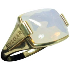 Bulgari 18 Karat Yellow Gold and Opal Ring