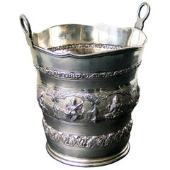 Indian Silver Ice Pail
