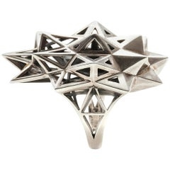 Sterling Silver Stellated Star Ring