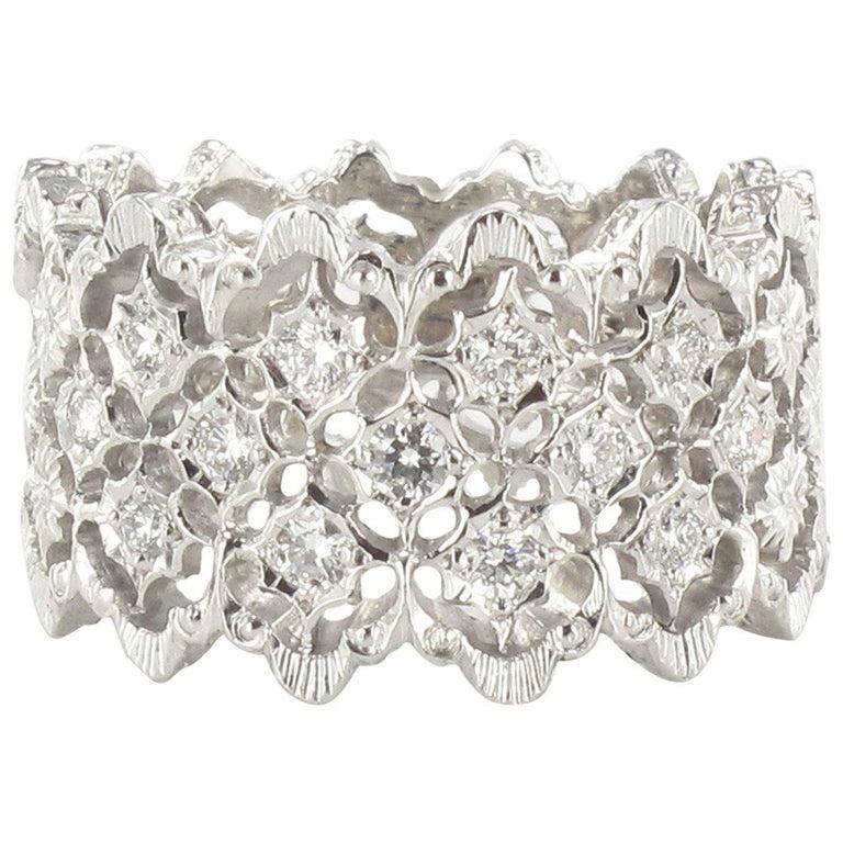 New Diamond Gold Filigree Ring For Sale