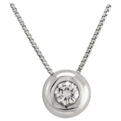 Cipollina White Diamond Pendent Set in 18 Karat White Gold Made in Italy