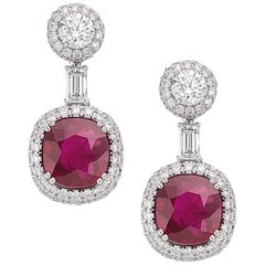 Picchiotti  Burma Ruby and Diamond Earrings