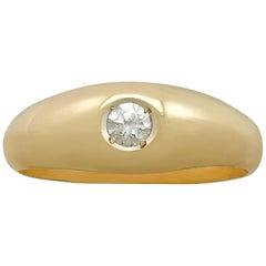 Diamond and Yellow Gold Cocktial Ring Circa 1980