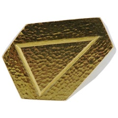 David Webb Gold Geometric Ring