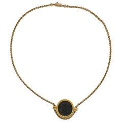 Bulgari Monete Roma Constantinus Ancient Coin Gold Necklace
