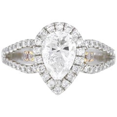 Simon G Pear Shape GIA Diamond Engagement Ring