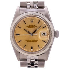 "Rolex Datejust Ref 1601 Stainless Steel and 14 Karat Gold ""Tropical"", circa 1965"