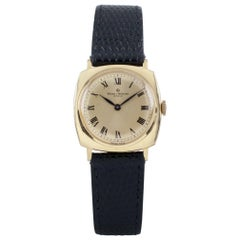 Baume & Mercier 18 Karat Gold Women's Hand-Winding Watch with Leather Band