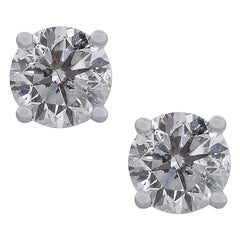 Diamond Round Brilliant Stud Earrings