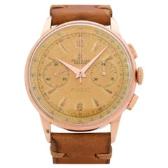 Vintage Breitling Chronograph Rose Gold Filled and Steel Watch, 1956