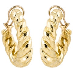 Henry Dunay Gold Hoop Earrings