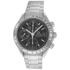 Authentic Men's Omega Speedmaster Steel Chronograph Automatic Watch
