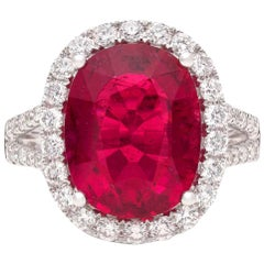 Rubellite, Diamond and White Gold Ring