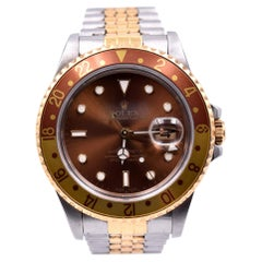 "Rolex 18 Karat Gold and Stainless Steel GMT Master II ""Root Beer"" Watch Ref. 1"