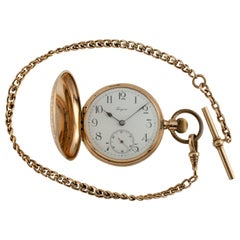 Longines Grand Prix 14 Karat Yellow Gold Full Hunter Pocket Watch