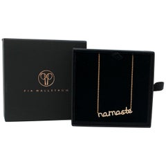 Pia Hallstrom 0.23 Carat Diamond 'Namaste' 18 Karat Rose Gold Necklace