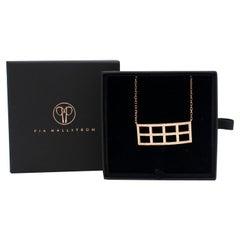 Pia Hallstrom 18 Karat Rose Gold 0.68 Carat White Diamond Gridd Necklace