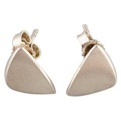 """Pair of """"Peak"""" Ear Studs in Sterling Silver by Georg Jensen"""