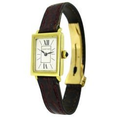 Vintage Cartier Forties Ladies Yellow Gold Manual Wind Wristwatch