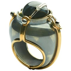 Scaphandre Ring Onyx by Elie Top