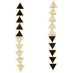 18 Karat Gold and 1.92 Carat White Diamond Elixir Earrings by Alessa Jewelry