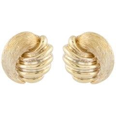 Henry Dunay Gold Button Style Earrings