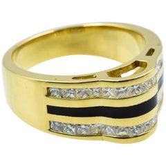 Bernard Passman Black Coral Diamond Ring