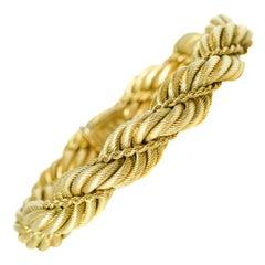 Tiffany & Co. 18 Karat Yellow Gold Large Twisted Rope Bracelet