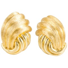 Henry Dunay Yellow Gold Earrings