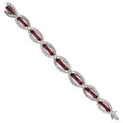 Art Deco Ruby and Diamond Bracelet