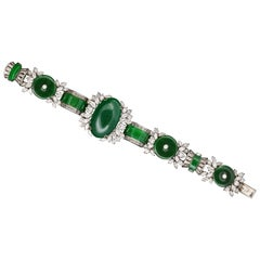 Harry Winston GIA Certified Jade  Diamond Very Important and Rare Bracelet