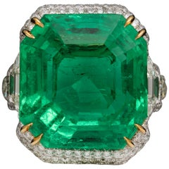 31.49 Carat Colombian Emerald Ring