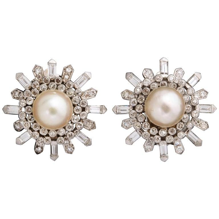 Van Cleef & Arpels pearl earrings, ca. 1960