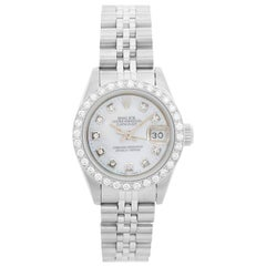 Rolex Ladies Datejust Stainless Steel Watch 69174, Automatic Winding, Stainless