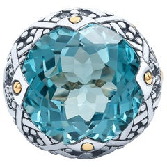 John Hardy Blue Topaz Ring in Sterling Silver