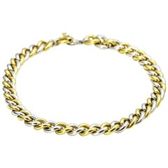 Roberto Coin Gold 18 Karat Curved Link Chain Toggle Clasp Choker Necklace