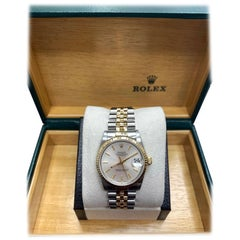 Rolex Midsize Datejust 68273 14 Karat Gold and Stainless Steel Box and Booklets