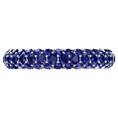 2.00 Carat Blue Sapphire Eternity Ring in 18 Karat White Gold