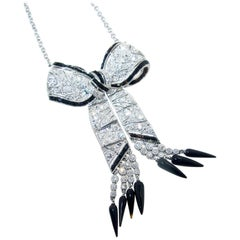 Art Deco Bow Motif Necklace