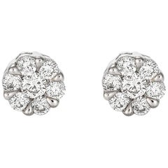 Giulians Medium 18K Diamond Set Cluster Stud Earrings