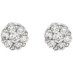 Giulians Medium 18K Diamond Set Cluster Stud Earrings