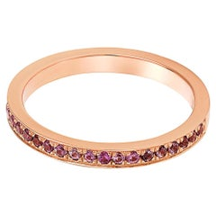 Giulians 18 karat Rose Gold and Pink Sapphire Ring