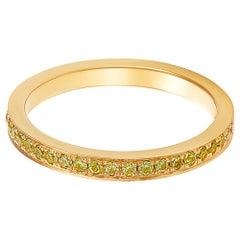 Giulians 18 karat Yellow Gold and Yellow Sapphire Ring