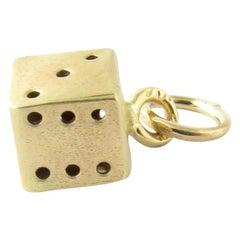 14 Karat Yellow Gold Dice Charm